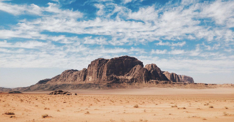 Deserto de Wadi Rum na Jordânia