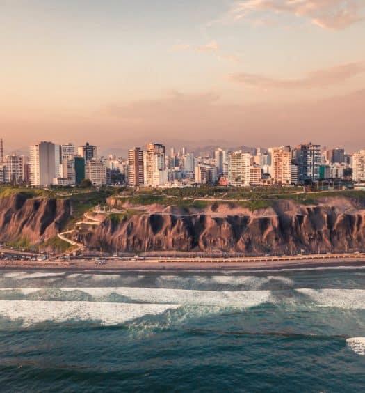 Costa de Miraflores em Lima