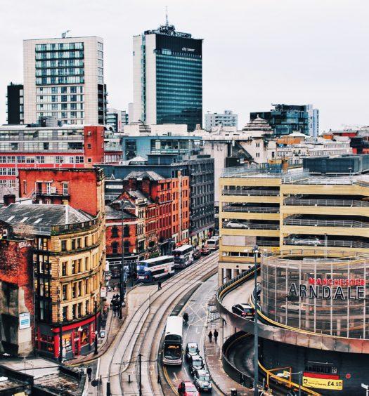Vista da cidade de Manchester, na Inglaterra