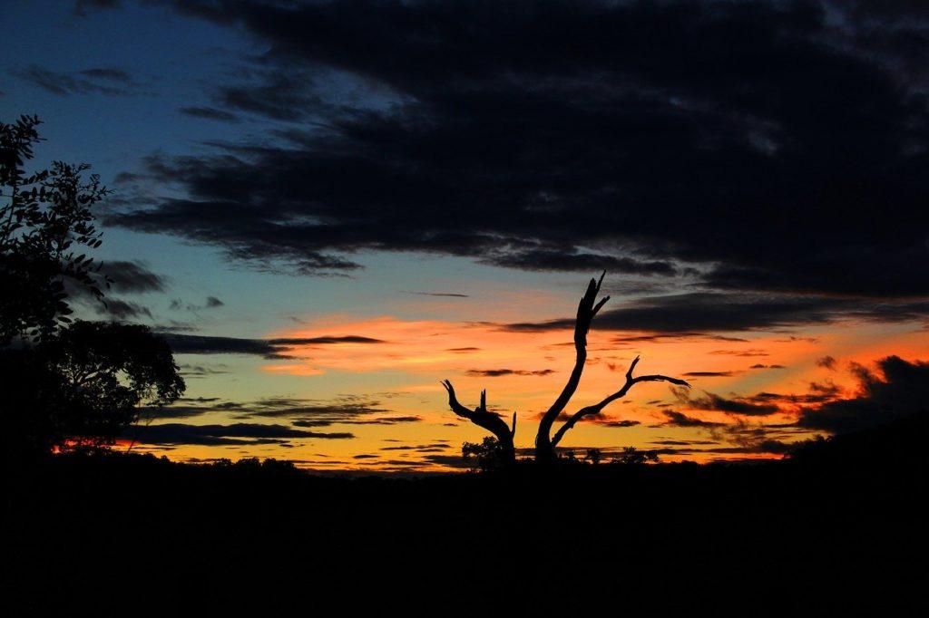 Pôr do sol no Mato Grosso do Sul