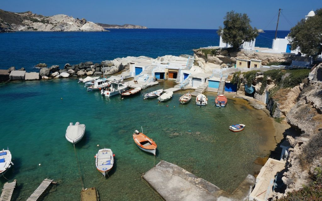 Mar na ilha de Milos