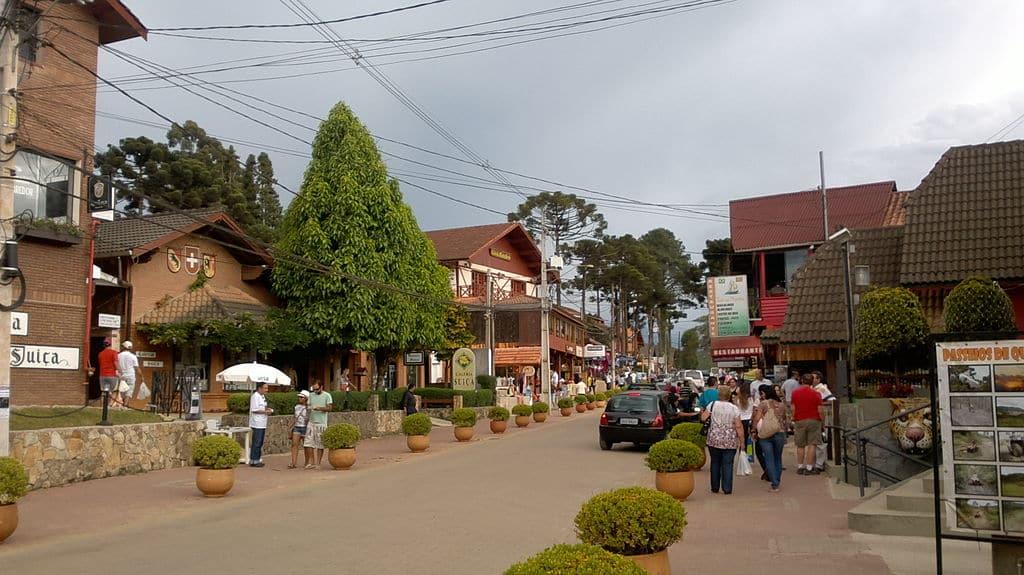 Foto do centro de Monte Verde