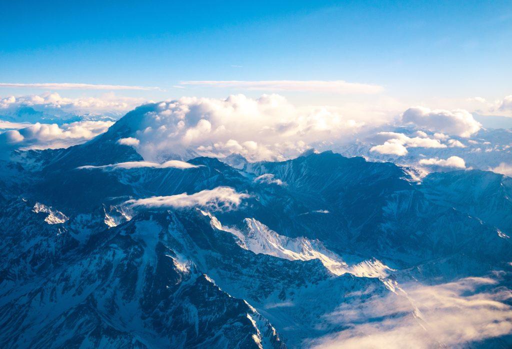 montanhas da cordilheira em aconcágua