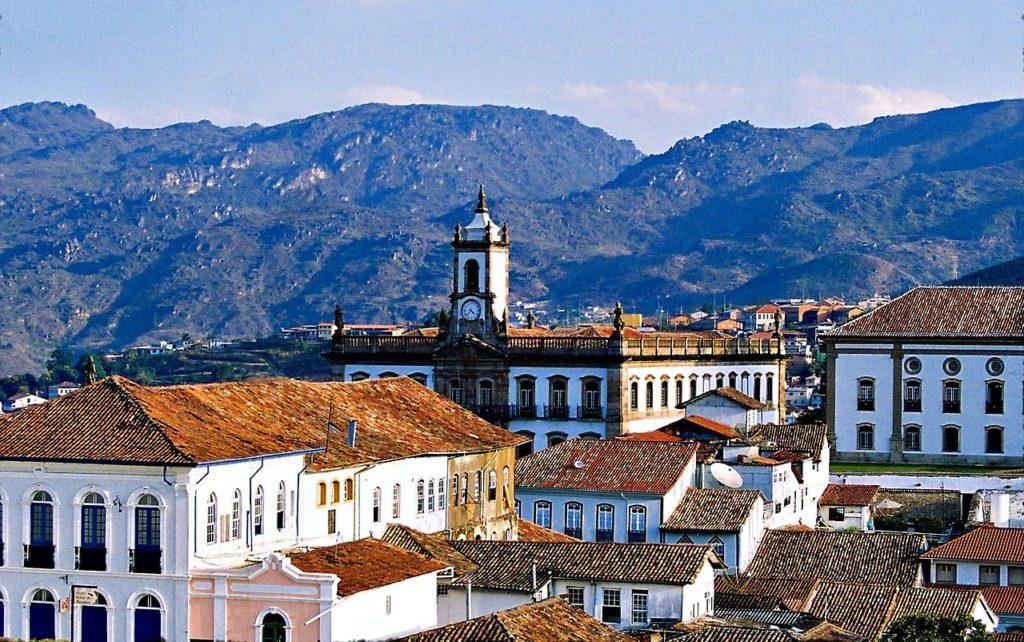 A cidade de Ouro Preto em Minas Gerais