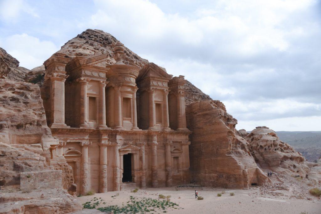 Construção história em Petra, na Jordânia