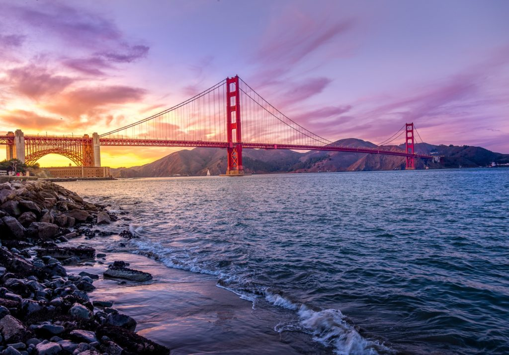 A Ponte Golden Gate em San Francisco