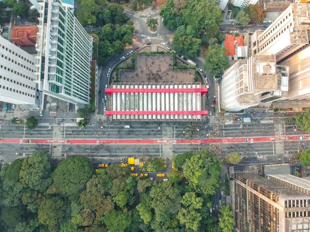 masp na avenida paulista no centro de são paulo