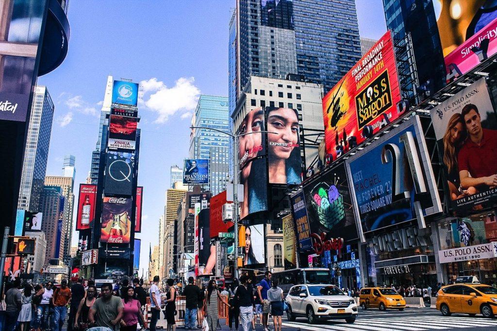 A Time Square em Nova York