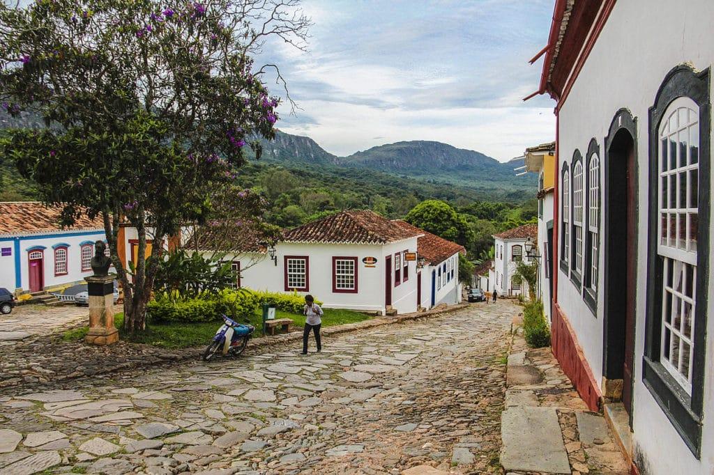 Rua de pedras em Tiradentes