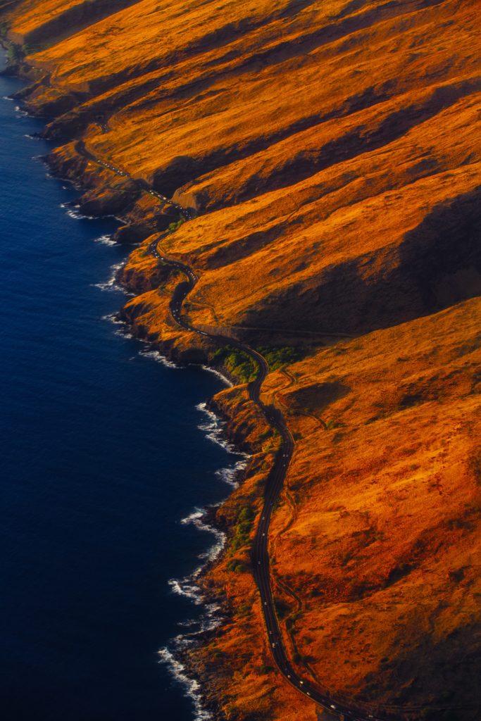 rodovia na ilha de maui no havaí