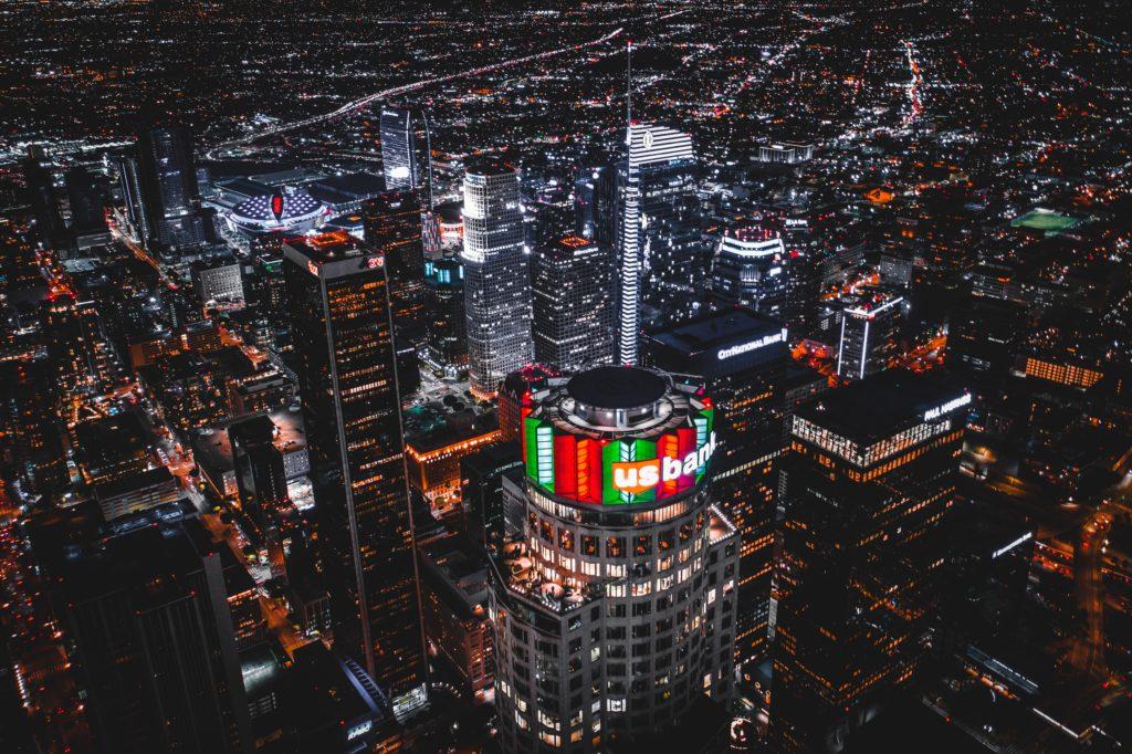 cidade de los angeles à noite