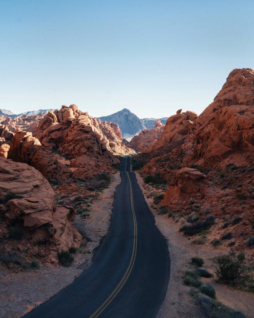 Parque Estadual Vale do Fogo em Nevada