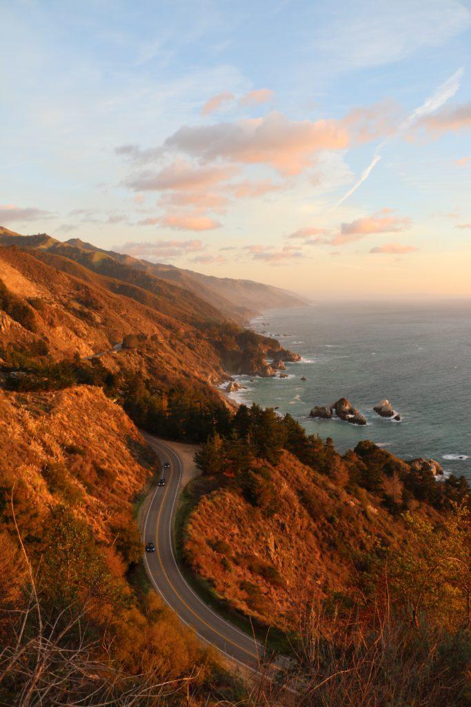 Estrada Big Sur na Califórnia