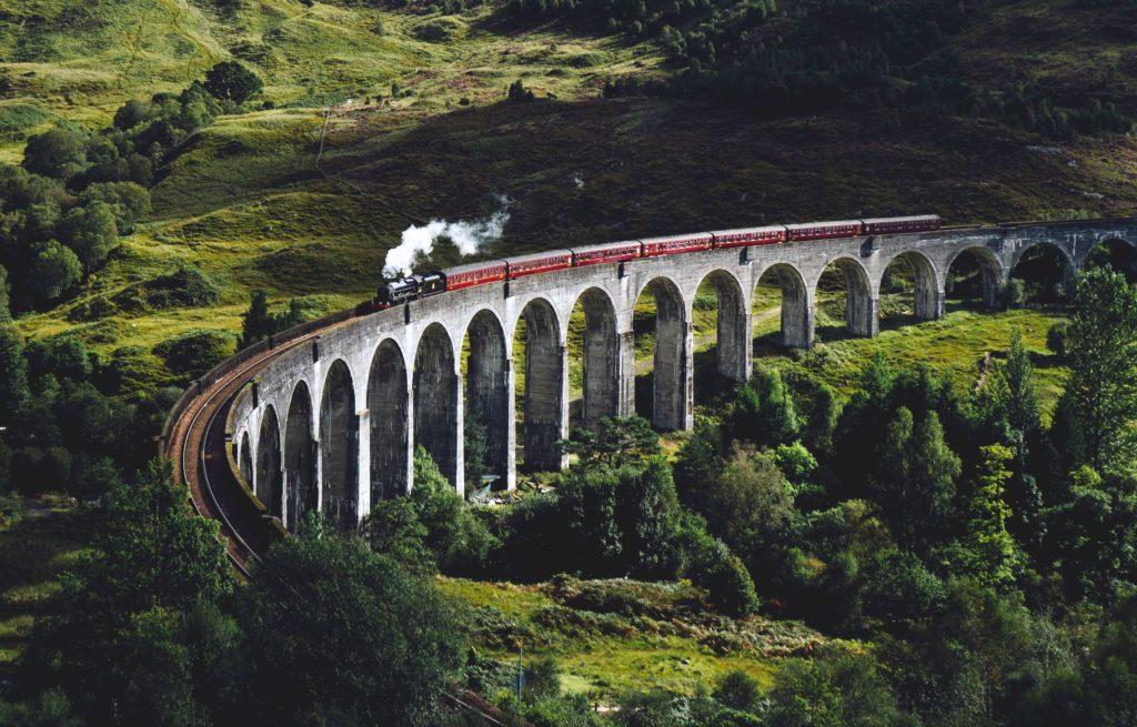 Viaduto Glenfinnan na escócia