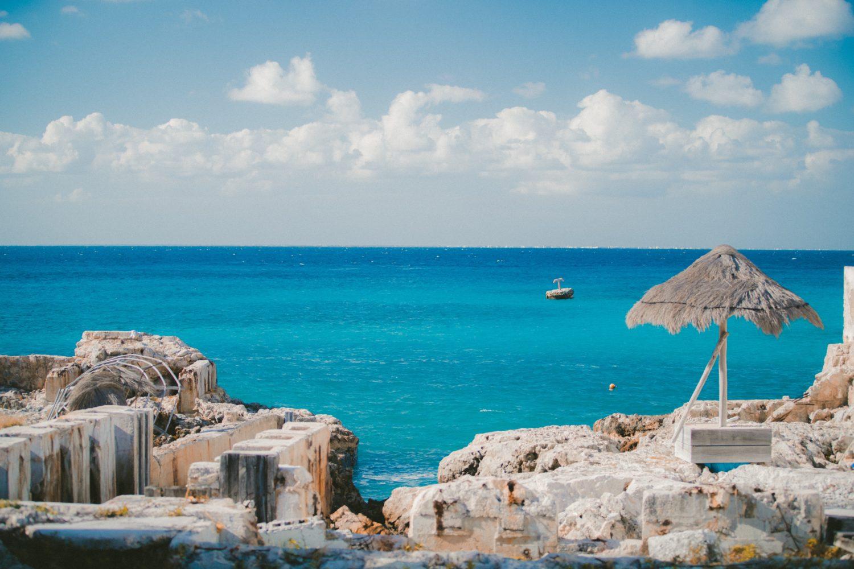 vista da ilha de cozumel no méxico