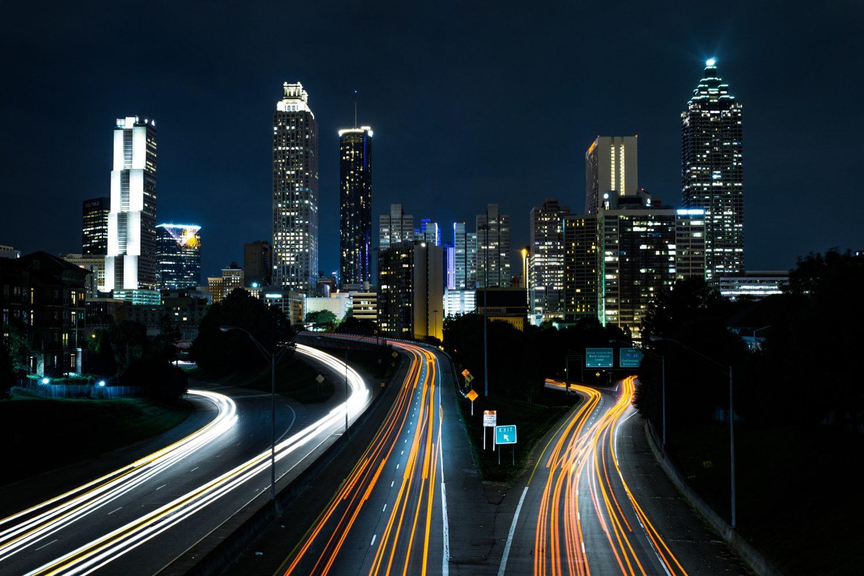 Jackson Street Bridge em Atlanta no estado de Georgia