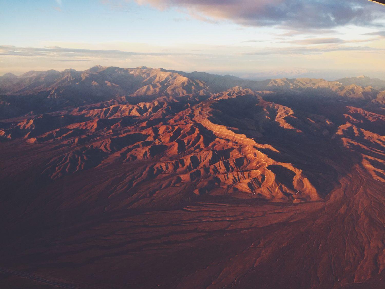 vista aérea das montanhas no estado de nevada nos EUA
