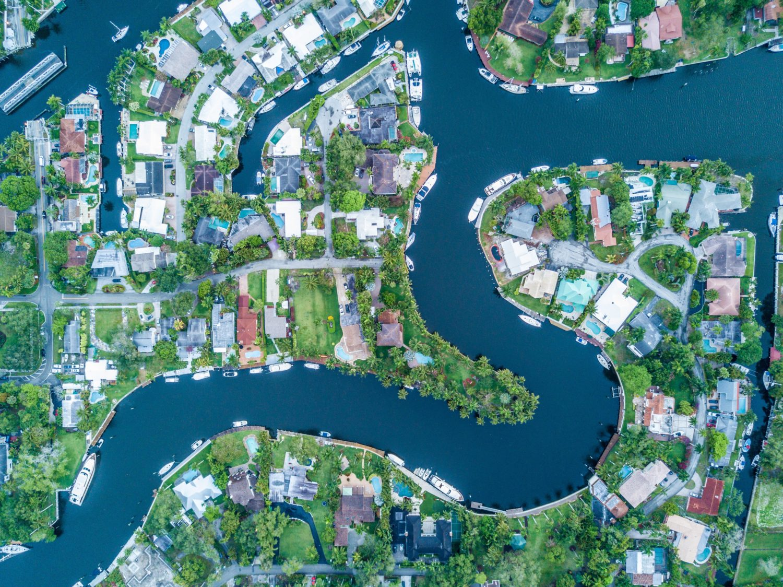 vista aerea da cidade fort lauderdale na flórida