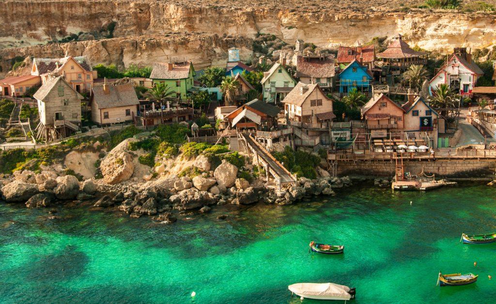 Vila do Popeye, em Mellieha na ilha de Malta
