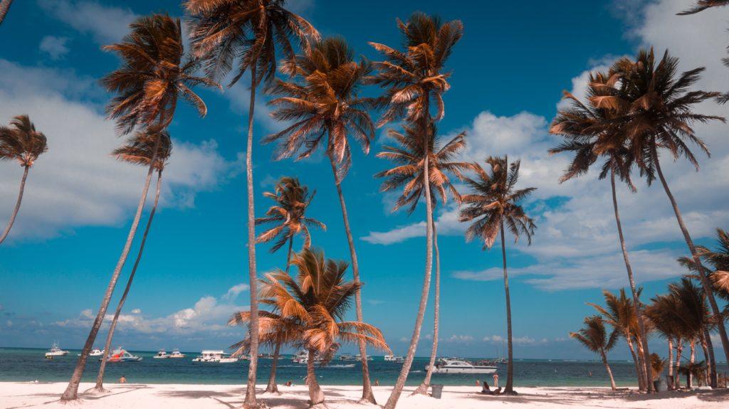 Praia de Bávaro em Punta Cana na república dominicana