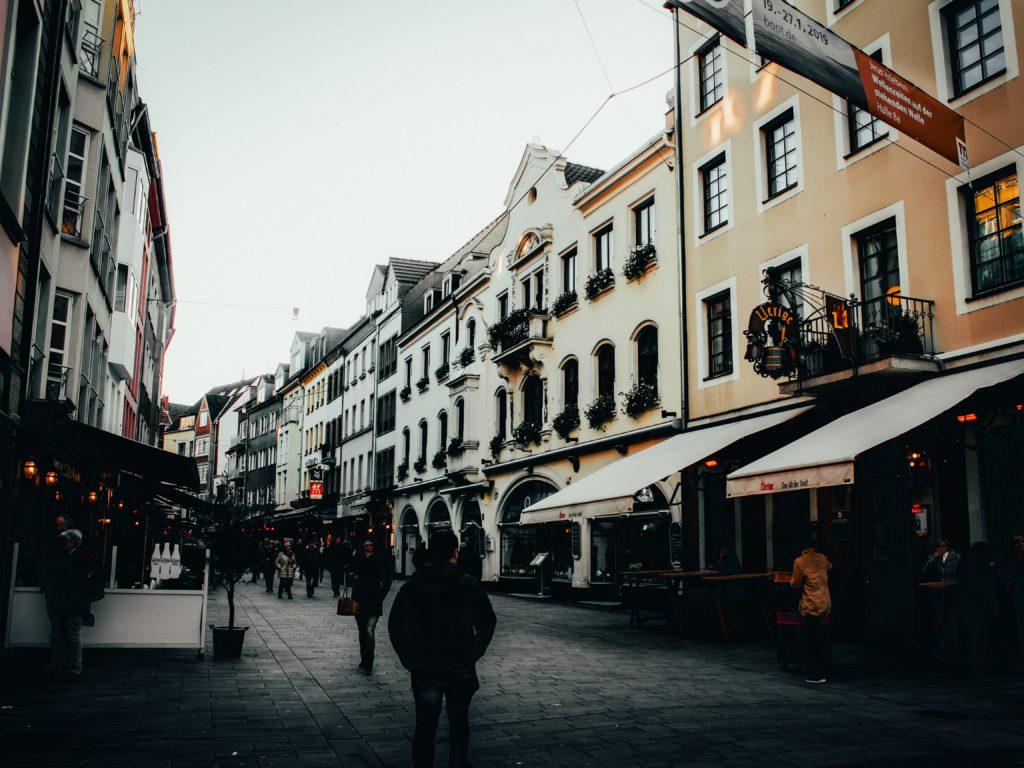 Bairro de Altstadt em Dusseldorf