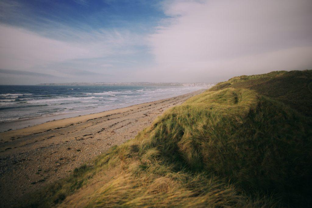 Praia de Tramore no Condado de Waterford na irlanda