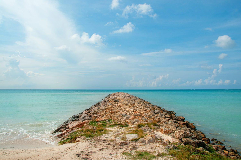 praia de aruba no caribe