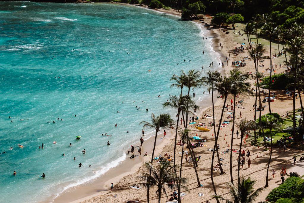 Hanauma Bay em Honolulu na ilha de Oahu no Havaí