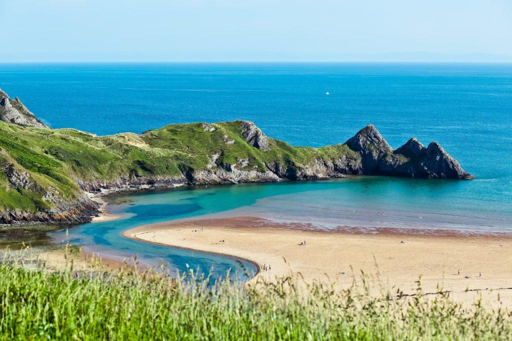 Baía no País de Gales do Reino Unido