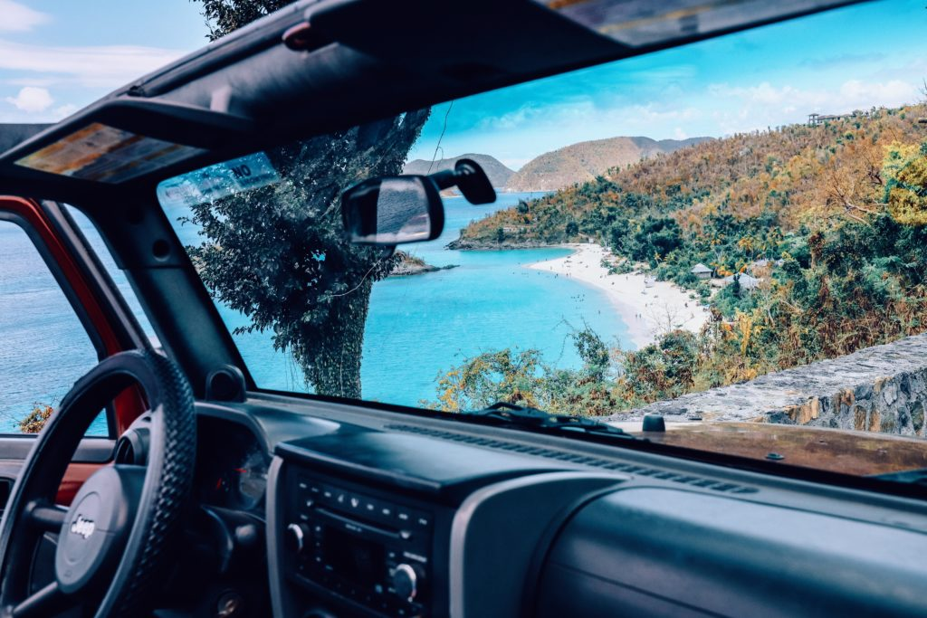 Ilha de Saint John nas Ilhas Virgens Americanas do Caribe