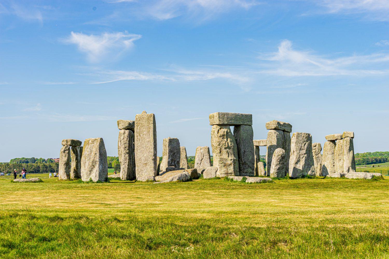 Stonehenge em Salisbury na região de Somerset na Inglaterra