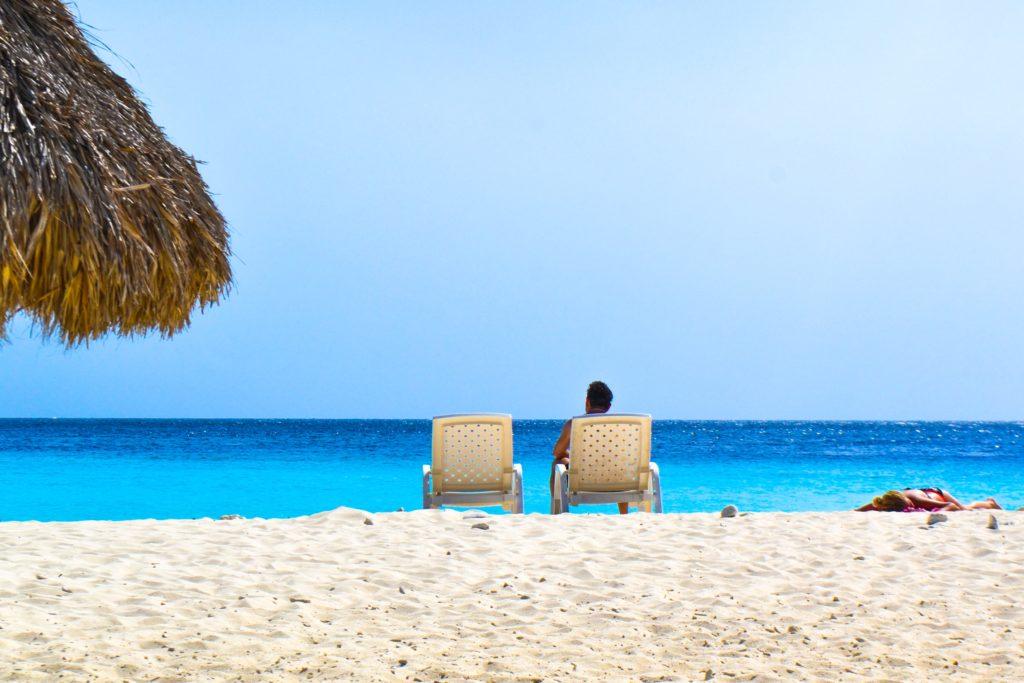 Praia de Porto Marie em Curaçao no Caribe