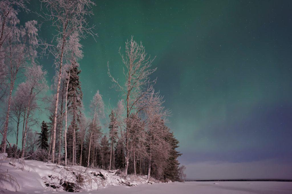 Aurora Boreal em Lapland na Finlândia