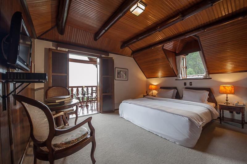 quarto do Hotel Rosa dos Ventos em teresopolis