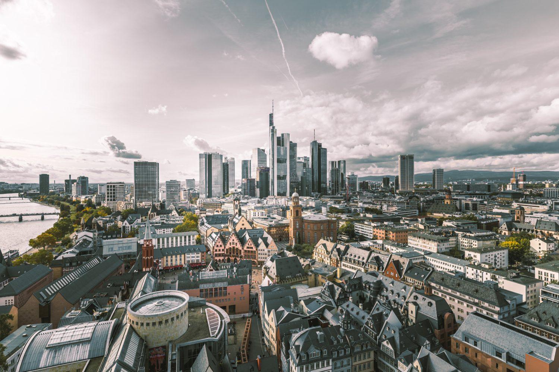 vista aerea da cidade de frankfurt na alemanha