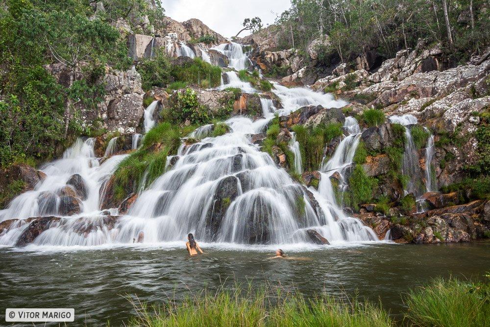 A Cachoeira da Capivara na Chapada dos Veadeiros