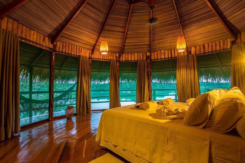 Inserido na natureza o Juma Amazon Lodge
