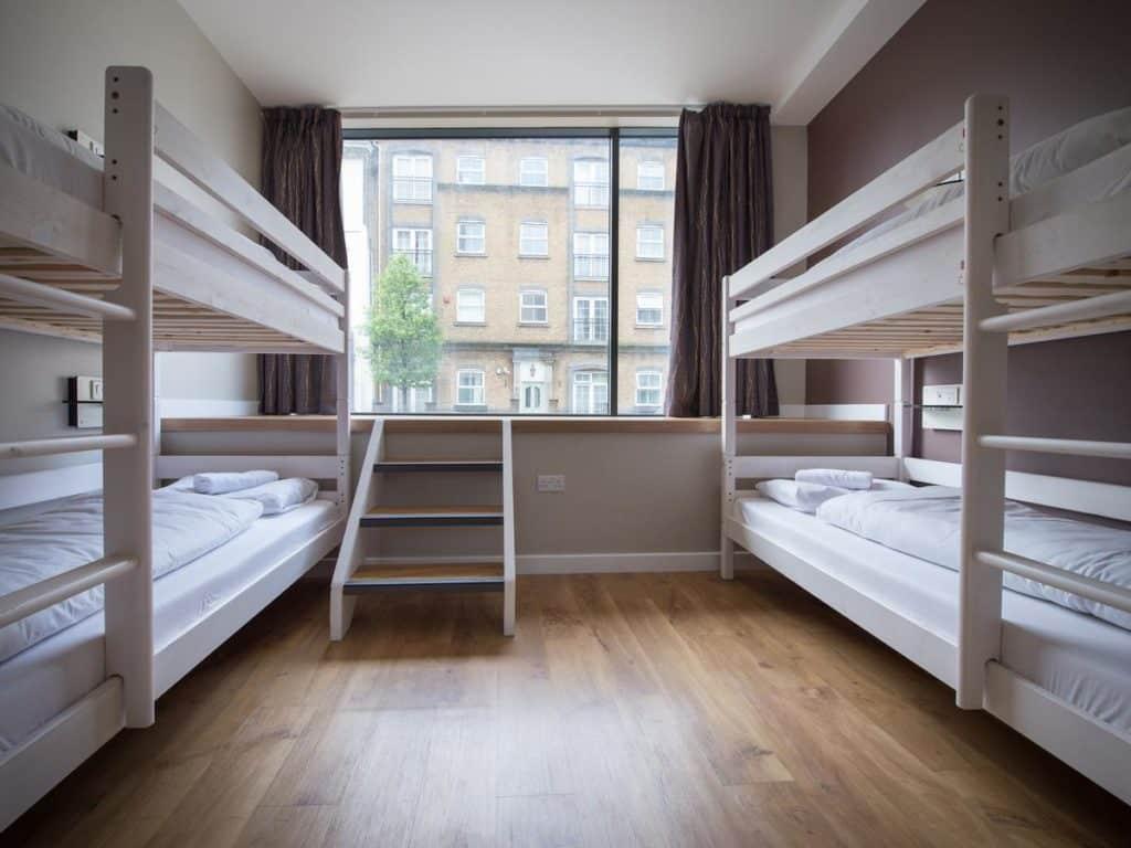 quarto compartilhado do Wombat's City Hostel - hoteis baratos em londres