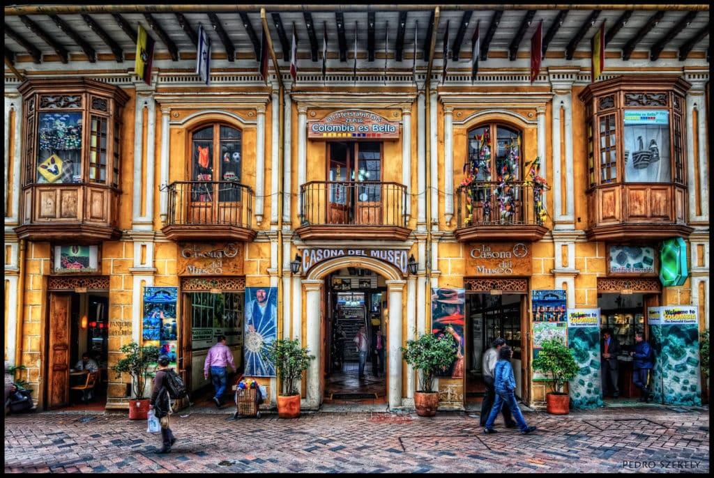 Prédio de comércio turistico na capital colombiana