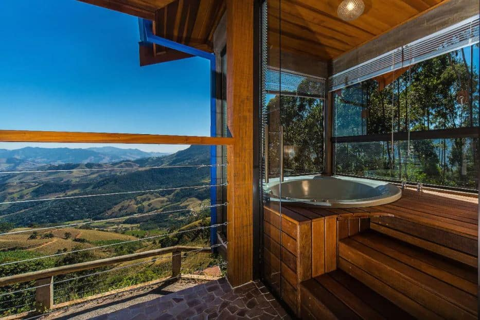 Parte do chalé Chalet above the Clouds IV