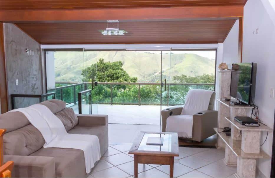 Sala da Casa cond. Vista marToqToq Grande, São Sebastião