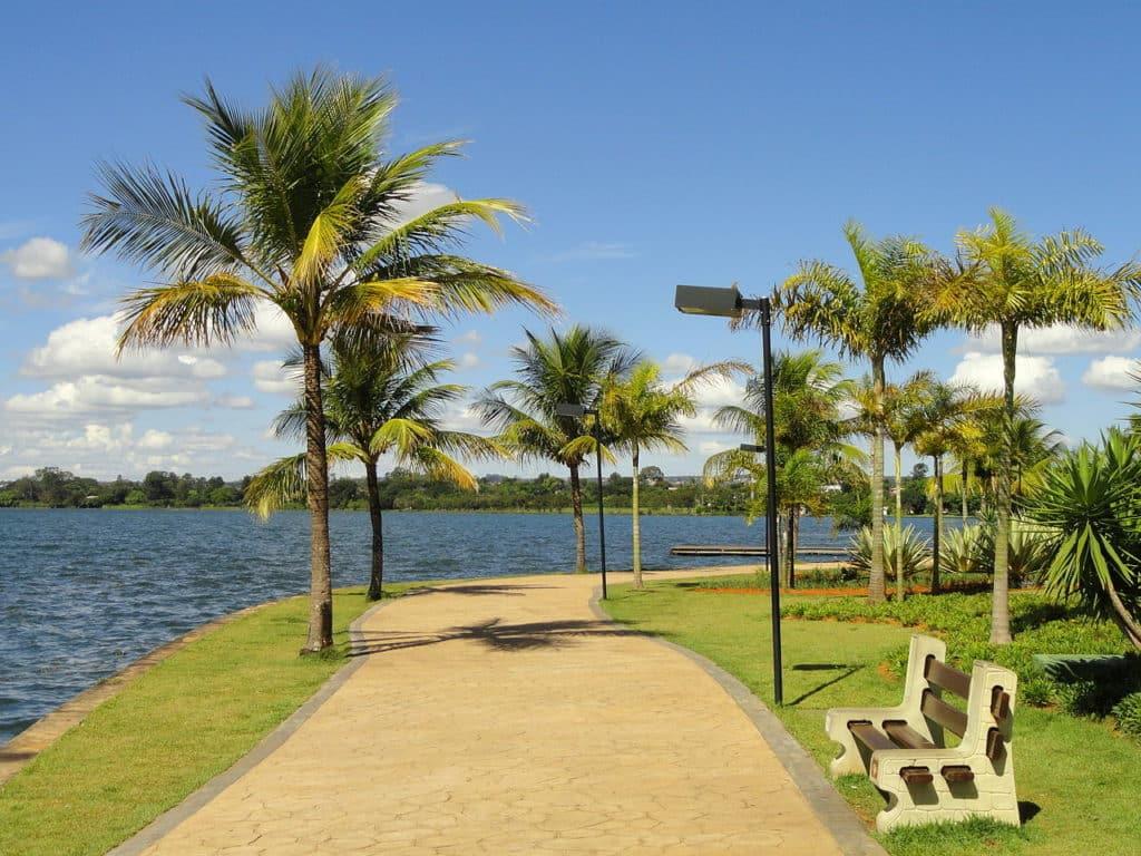 Parte do Lago Paranoá
