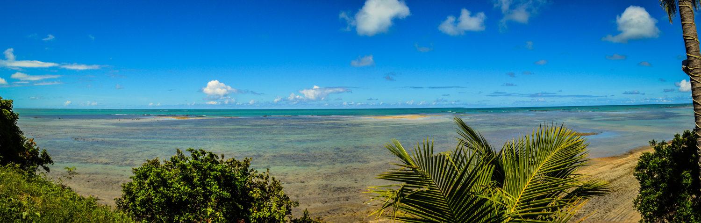 Vista do Mirante de Japaratinga para o mar da região
