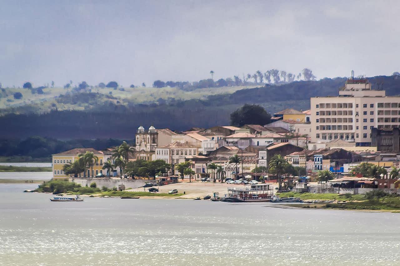 Vista da cidade de Penedo, no Alagoas