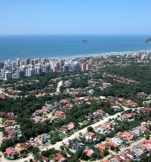 Vista da Riviera de São Lourenço, em Bertioga