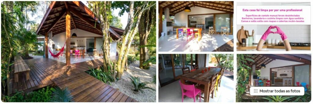 Exterior e espaços da casa 140m do mar, Itamambuca