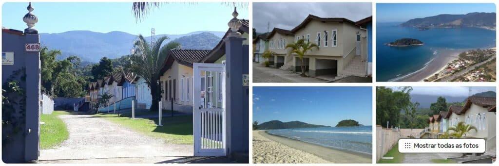 Casa em condomínio com dois quartos e perto da praia