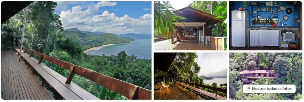 Vista e instalações da casa Aconchego, praticidade e vista maravilhosa