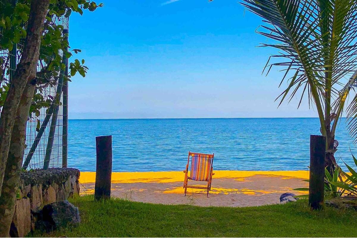 airbnb casa pé na areia na praia de toque toque pequeno