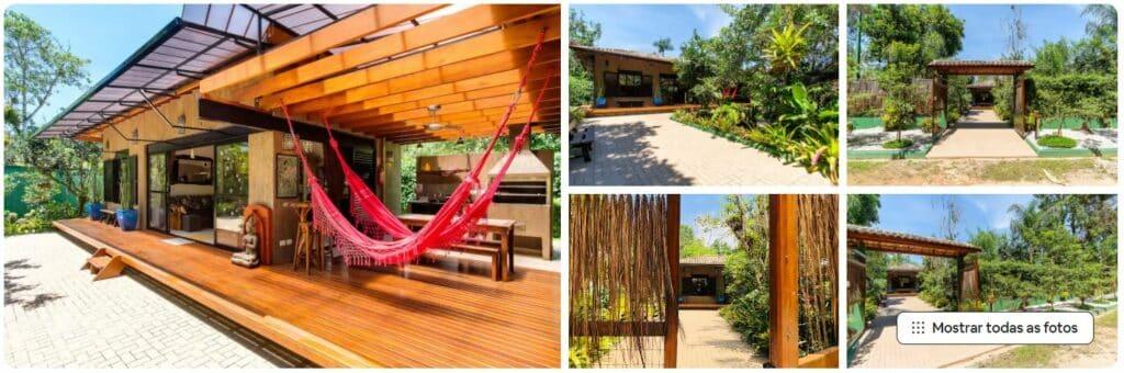 O expaço exterior do Airbnb ALMAR Ubatuba